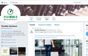 twitter flexibleworkout