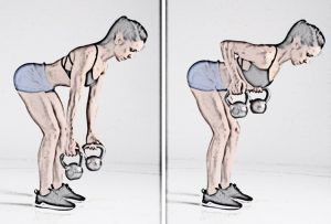 Two-Arm-Kettlebell-Row- full body kettlebell workout