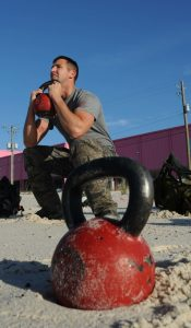 full body kettlebell workout- goblet squat