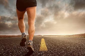 becoming a perfect runner-man-running-on-road