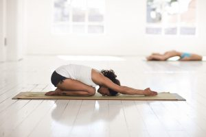 Hot Yoga- childs pose beginners