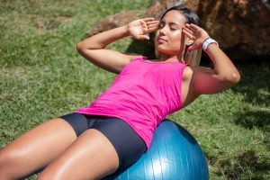 yoga ball workout loose your belly fat